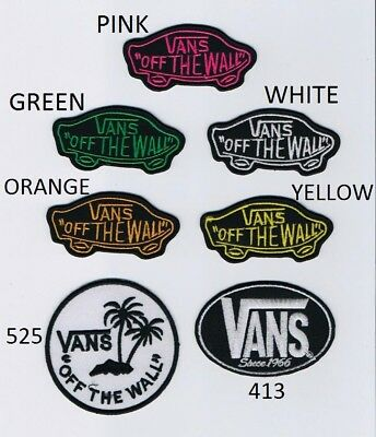 Vans Of The Wall Since 1966 Skateboard Embroidered Iron on sew on Patch Badge