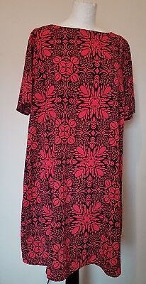 BRAND NEW Pretty, Cool, Floaty A line Dress by ASOS MATERNITY. Size 16. Red.