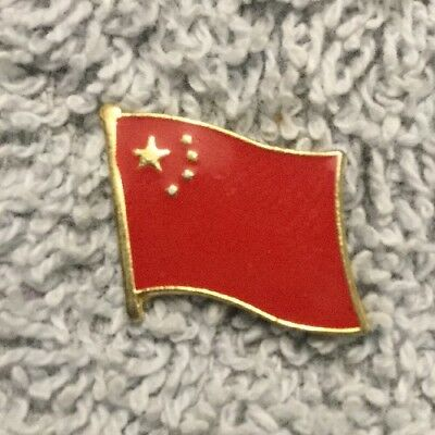 China PRC National Flag Asia Country Gold Hat Lapel Pin Tie Tac G10F