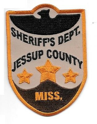 Jessup Co Sheriff's Patch Mississippi Burning Prop Police Replica