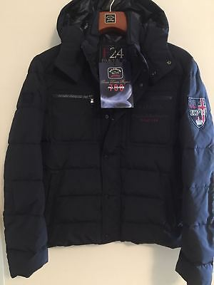 NEW Paul & Shark Yachting Jacket Blue Navy Blue  Real Feather KIPAWA F24 L