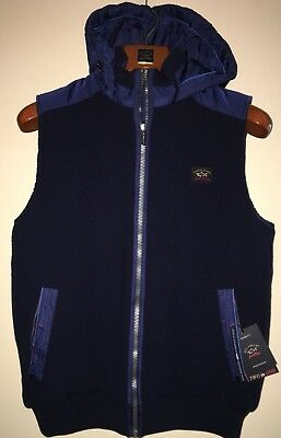 NEW Paul & Shark Yachting Jacket Blusotto Gilet Navy BLUE Doubleface XL