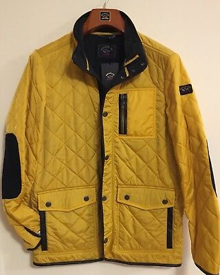 NEW Paul & Shark Yachting Jacket  Yellow Leather Inserts L