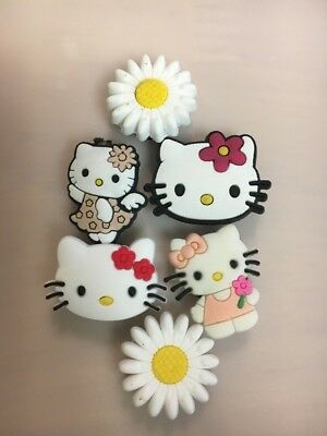 Hello Kitty Croc Plug Hole Charms 6 pc set Jibbitz charms sandals clogs bracelet