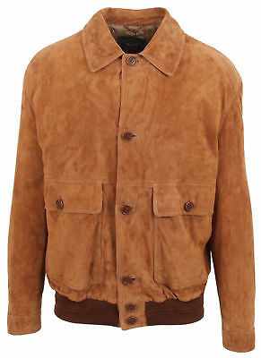 NEW Paul & Shark Yachting LEATHER Jacket Brown Size L