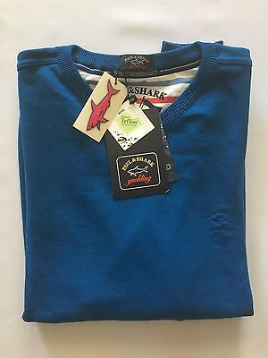 NEW Paul & Shark Yachting Sweater  Pullover L Cotton BLUE Watershed