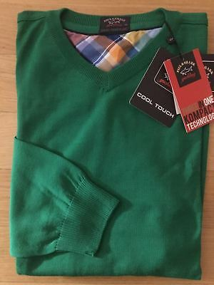 NEW Paul & Shark Yachting Sweater Pullover 4XL Wool GREEN Cool Touch