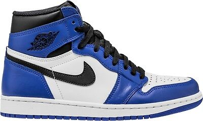 2018 Mens Air Jordan Retro 1 High OG Game Royal Blue 555088 403 100%  AUTHENTIC 43a2c9296