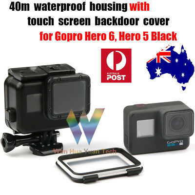 40M Waterproof Housing Case+Touch Screen Backdoor Cover For Gopro Hero 6 5 Black