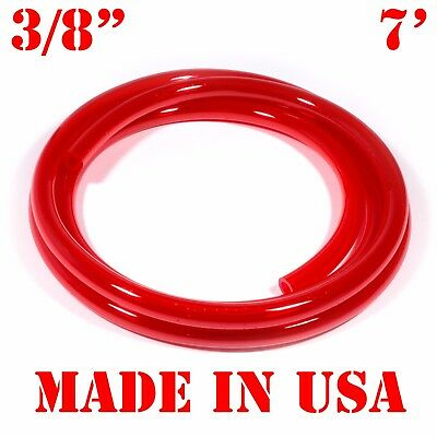 "7 Feet 3/8"" Bright RED FUEL LINE Jet Ski Seadoo Yamaha WATER COOLING Hose Tube"