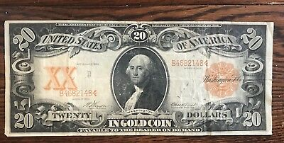 US $20 ' In Gold Coin' Series Of 1906 Paper Bill