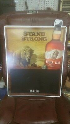 Buffalo Trace Stand Strong metal sign with chalk board 24.5 x 18