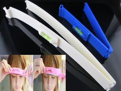 2pcs/set Fashion DIY Professional Bangs Hair Cutting Clip Comb Hairstyle Typing