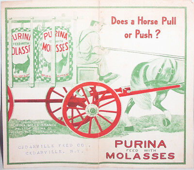 Early -Ralston Purina- Vintage Molasses Feed Advertising Brochure- Cedarville,NY
