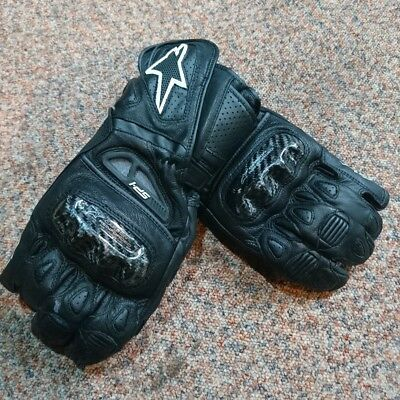 Alpinestars SP-1 Black Leather Motorcycle Gloves medium