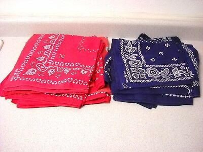 23 Vintage Elephant Trunk Up Down Red Blue Bandanas Large Variety