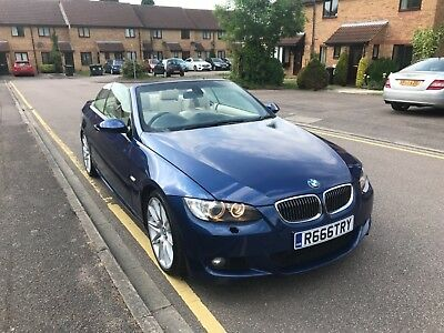 2008 335i M Sport Blue BMW Convertible 6 speed Automatic with paddle shift gears