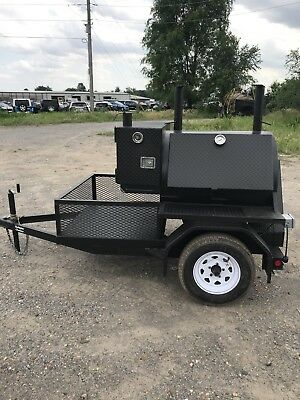 32x36 Custom Built Rotisserie Smoker