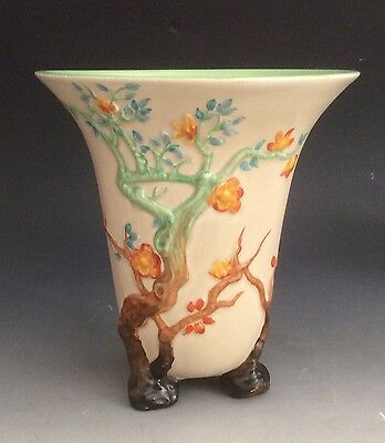 Clarice Cliff Pottery My Garden Indian Tree Vase Circa 1930