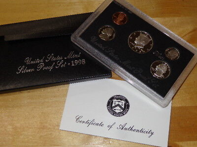 1998 US Mint Silver Proof Set Coin