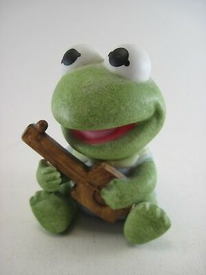 Vintage 1983 Henson Assoc. Baby Kermit the Frog Enesco Figurine Ceramic Bisque