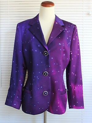 Purple / Pink Gianni Versace 100% Wool Jacket Blazer Made in Italy