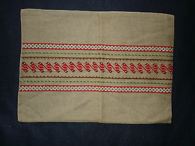 #014  Beautiful Vintage Hand-Embroidered Pillowcase