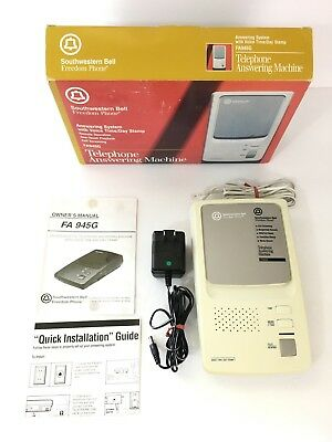 Southwestern Bell Freedom Phone Answering Machine Model FA945G w/ Microcassette