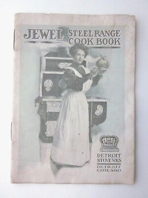 Early 1900's JEWEL STEEL RANGE STOVE COOK BOOK Detroit Stove Wks BOOK w/ Ads