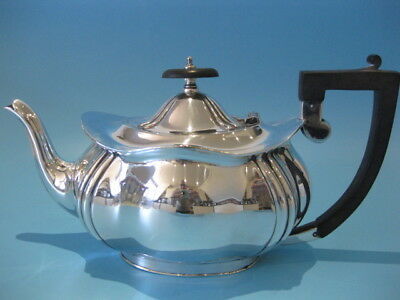Extremely Beautiful Antique Silver Plated Victorian Style Ornate Oval Tea Pot