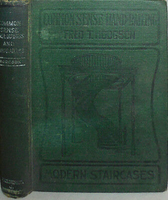 -Rare- 1905 -Stair Building & Handrailing- Vintage Construction/Woodworking Book