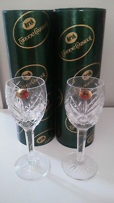 Tyrone Crystal Sherry or Port Glass - Set of 6- Cut Glass - Hand Made -Tullamore