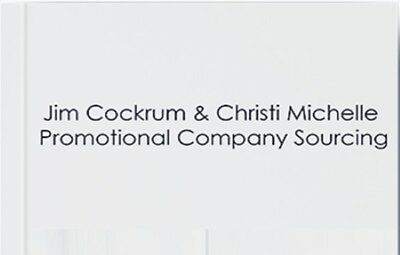 Jim Cockrum – Promotional Company Sourcing