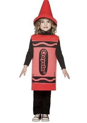 RED CRAYON COSTUME Child Size 3-4T  Halloween