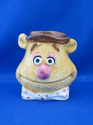 Vtg FOZZIE THE BEAR Muppet Figural Sculpted Head Mug Sigma Henson Assoc. 1980's