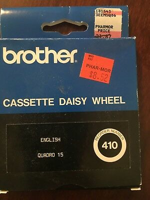 Brother Quadro 15 Cassette Daisywheel For Brother Typewriters
