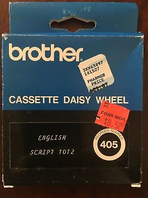 Brother Script 1012 Cassette Daisywheel For Brother Typewriters