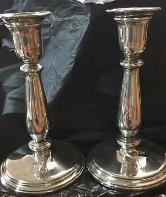 Pair Of Antique 1915 Tiffany & Co. Sterling Silver Candlesticks