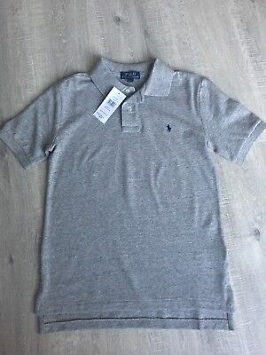 Boys POLO RALPH LAUREN Polo Top T-shirt Grey NEW WITH TAGS Medium 10-12 Years