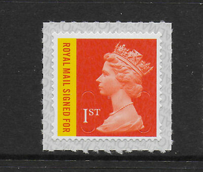 1) GB Stamps 2017 1st Recorded Delivery Signed For Definitive M17L.  Mint NH.