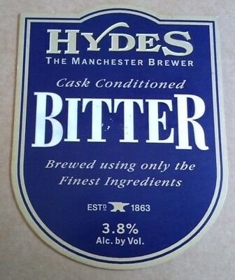 Beer pump clip badge front HYDES brewery BITTER cask ale Manchester