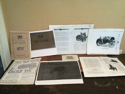 Reprinted Repro Antique Vintage Lot Of Eagle Mfg Tractor Manuals And Brochures