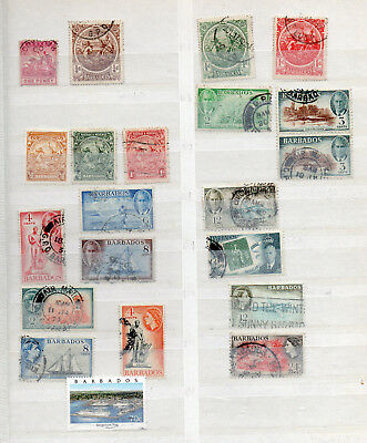 BARBADOS  QV to QEII 21 DIFFERENT USED STAMPS