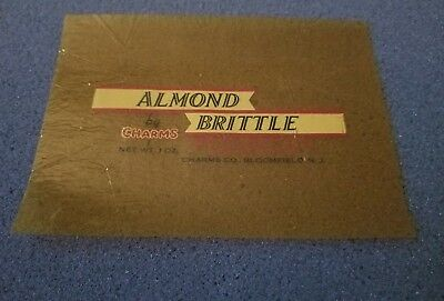 Vintage Antique Almond Brittle By Charms Candy Wrapper