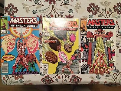 Masters of the Universe 1 2 3 He-Man 1986 Marvel Star series Free Shipping