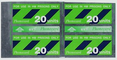 BT 20 units Prison card pair uncut proof/printers waste uncoded.