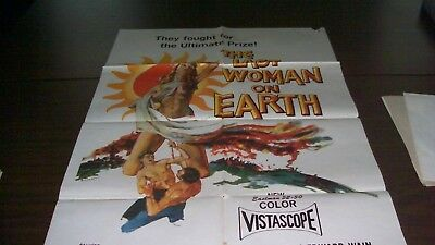 Vintage authentic The Last Woman on Earth one Sheet Movie theater Poster