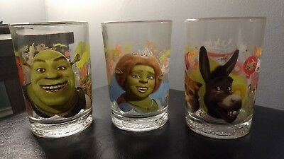 Shrek The Third - DreamWorks - McDonald's Glasses - Fiona, Donkey, and Shrek