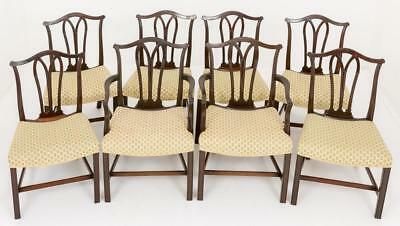 Set Hepplewhite Dining Chairs in Cuban Mahogany