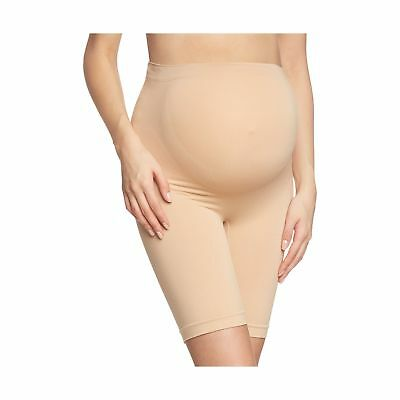 Noppies Women's Seamless Shorts Long Maternity Knickers Beige (Natural C018) .